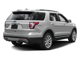 Ingot Silver Metallic 2016 Ford Explorer Pictures Explorer Utility 4D Limited 2WD V6 photos rear view