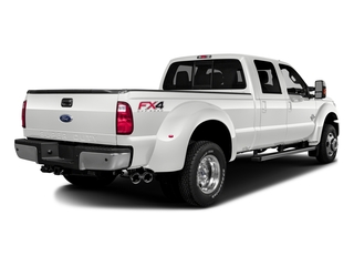 White Platinum Metallic Tri-Coat 2016 Ford Super Duty F-350 DRW Pictures Super Duty F-350 DRW Crew Cab Platinum 4WD photos rear view