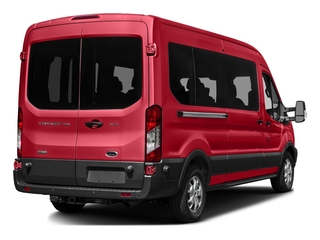 Race Red 2016 Ford Transit Wagon Pictures Transit Wagon Passenger Van XL Medium Roof photos rear view