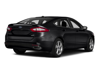 Shadow Black 2016 Ford Fusion Pictures Fusion Sedan 4D SE EcoBoost 2.0L I4 photos rear view