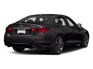 Malbec Black 2016 INFINITI Q50 Pictures Q50 Sedan 4D AWD V6 Hybrid photos rear view