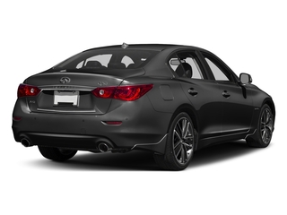 Graphite Shadow 2016 INFINITI Q50 Pictures Q50 Sedan 4D AWD V6 Hybrid photos rear view