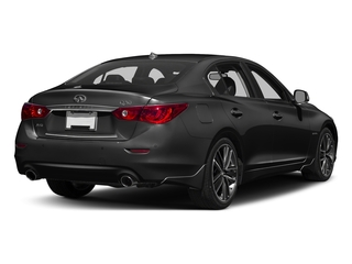 Black Obsidian 2016 INFINITI Q50 Pictures Q50 Sedan 4D AWD V6 Hybrid photos rear view