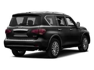 Black Obsidian 2016 INFINITI QX80 Pictures QX80 Utility 4D 2WD V8 photos rear view