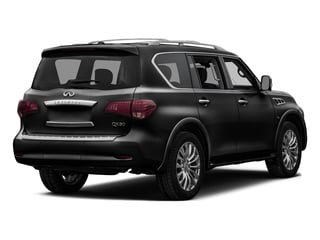 Black Obsidian 2016 INFINITI QX80 Pictures QX80 Utility 4D Signature AWD V8 photos rear view