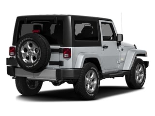 Billet Silver Metallic Clearcoat 2016 Jeep Wrangler Pictures Wrangler Utility 2D Sahara 4WD V6 photos rear view