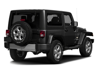 Black Clearcoat 2016 Jeep Wrangler Pictures Wrangler Utility 2D Sahara 4WD V6 photos rear view