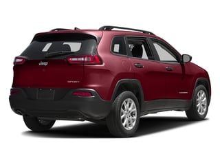 Deep Cherry Red Crystal Pearlcoat 2016 Jeep Cherokee Pictures Cherokee Utility 4D Sport 2WD photos rear view
