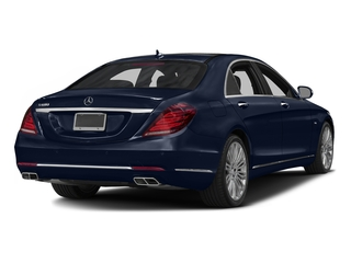 Lunar Blue Metallic 2016 Mercedes-Benz S-Class Pictures S-Class Sedan 4D S600 V12 Turbo photos rear view