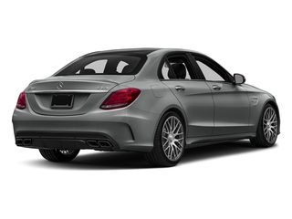 Palladium Silver Metallic 2016 Mercedes-Benz C-Class Pictures C-Class Sedan 4D C63 AMG V8 Turbo photos rear view