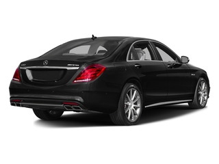 Obsidian Black Metallic 2016 Mercedes-Benz S-Class Pictures S-Class Sedan 4D S63 AMG AWD V8 Turbo photos rear view