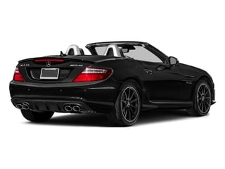 Obsidian Black Metallic 2016 Mercedes-Benz SLK Pictures SLK Roadster 2D SLK55 AMG V8 photos rear view