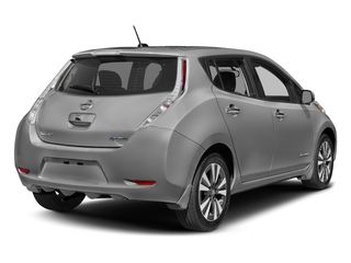Brilliant Silver 2016 Nissan LEAF Pictures LEAF Hatchback 5D SV Electric photos rear view