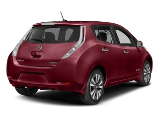 Coulis Red 2016 Nissan LEAF Pictures LEAF Hatchback 5D SV Electric photos rear view