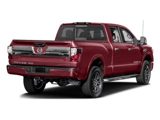 Cayenne Red 2016 Nissan Titan XD Pictures Titan XD Crew Cab Platinum Reserve 4WD V8 photos rear view