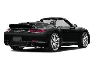 Jet Black Metallic 2016 Porsche 911 Pictures 911 Cabriolet 2D Black Edition H6 photos rear view