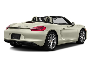 Carrera White Metallic 2016 Porsche Boxster Pictures Boxster Roadster 2D H6 photos rear view