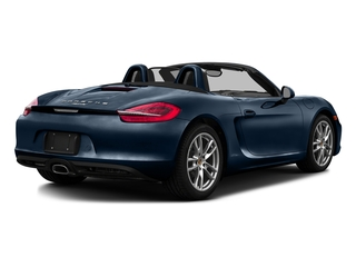 Dark Blue Metallic 2016 Porsche Boxster Pictures Boxster Roadster 2D H6 photos rear view