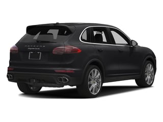 Black 2016 Porsche Cayenne Pictures Cayenne Utility 4D AWD V8 Turbo photos rear view