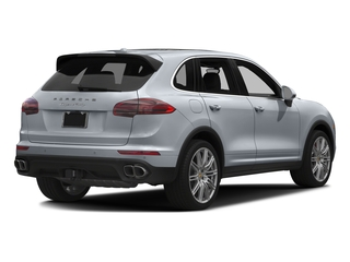 Rhodium Silver Metallic 2016 Porsche Cayenne Pictures Cayenne Utility 4D AWD V8 Turbo photos rear view