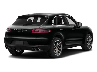 Jet Black Metallic 2016 Porsche Macan Pictures Macan Utility 4D AWD V6 Turbo photos rear view