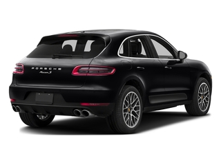 Black 2016 Porsche Macan Pictures Macan Utility 4D AWD V6 Turbo photos rear view