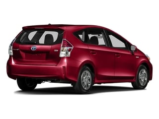 Absolutely Red 2016 Toyota Prius v Pictures Prius v Liftback 5D v I4 Hybrid photos rear view