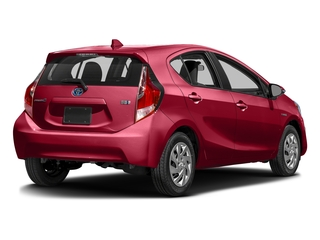 Absolutely Red 2016 Toyota Prius c Pictures Prius c Liftback 5D c I4 Hybrid photos rear view