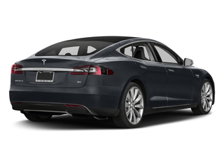 Midnight Silver Metallic 2016 Tesla Motors Model S Pictures Model S Sed 4D D Performance 90 kWh AWD Elec photos rear view