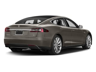 Titanium Metallic 2016 Tesla Motors Model S Pictures Model S Sed 4D D Performance 90 kWh AWD Elec photos rear view