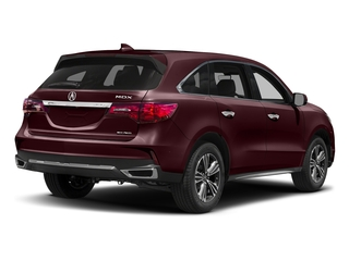 Dark Cherry Pearl 2017 Acura MDX Pictures MDX SH-AWD photos rear view