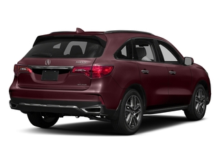 Dark Cherry Pearl 2017 Acura MDX Pictures MDX Utility 4D Advance AWD V6 photos rear view