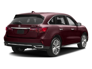 Dark Cherry Pearl 2017 Acura MDX Pictures MDX Utility 4D Technology 2WD V6 photos rear view