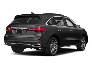 Modern Steel Metallic 2017 Acura MDX Pictures MDX Utility 4D Advance DVD AWD V6 photos rear view