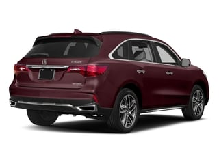 Dark Cherry Pearl 2017 Acura MDX Pictures MDX Utility 4D Advance DVD AWD V6 photos rear view
