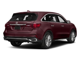 Dark Cherry Pearl 2017 Acura MDX Pictures MDX Utility 4D Technology DVD 2WD V6 photos rear view