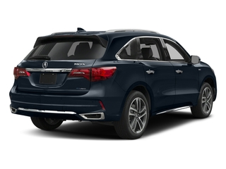 Fathom Blue Pearl 2017 Acura MDX Pictures MDX Utility 4D Advance AWD Hybrid photos rear view