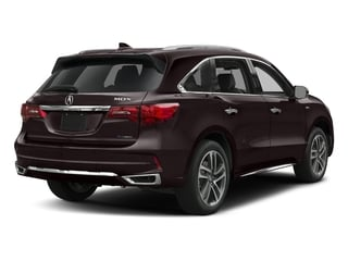 Black Copper Pearl 2017 Acura MDX Pictures MDX Utility 4D Advance AWD Hybrid photos rear view