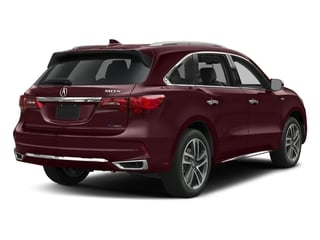 Dark Cherry Pearl 2017 Acura MDX Pictures MDX Utility 4D Advance AWD Hybrid photos rear view