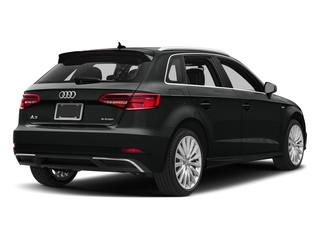 Mythos Black Metallic 2017 Audi A3 Sportback e-tron Pictures A3 Sportback e-tron Hatchback 5D E-tron Premium Plus photos rear view