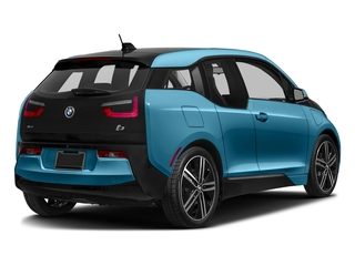 Protonic Blue Metallic w/Frozen Gray Accent 2017 BMW i3 Pictures i3 Hatchback 4D 94 AH w/Range Extender photos rear view
