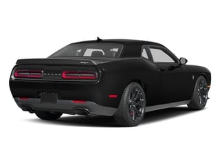 Pitch Black Clearcoat 2017 Dodge Challenger Pictures Challenger SRT Hellcat Coupe photos rear view