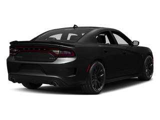 Pitch Black Clearcoat 2017 Dodge Charger Pictures Charger Sedan 4D SRT Hellcat V8 Supercharged photos rear view