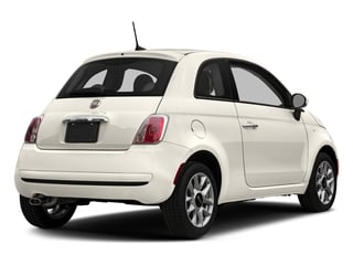 Bianco (White) 2017 FIAT 500 Pictures 500 Lounge Hatch photos rear view