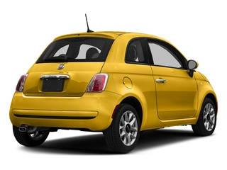 Giallo Moderna Perla (Pearl Yellow Tri-Coat) 2017 FIAT 500 Pictures 500 Lounge Hatch photos rear view