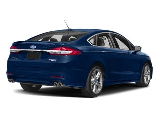 Lightning Blue 2017 Ford Fusion Pictures Fusion Sedan 4D Sport EcoBoost V4 Turbo photos rear view