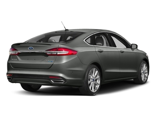 Magnetic 2017 Ford Fusion Pictures Fusion Sedan 4D Platinum AWD I4 Turbo photos rear view