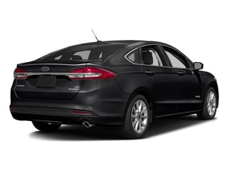Shadow Black 2017 Ford Fusion Pictures Fusion Sedan 4D SE I4 Hybrid photos rear view