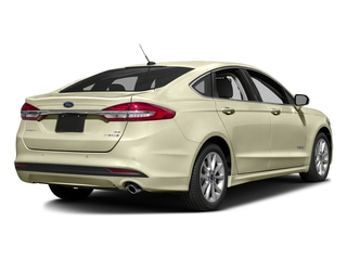 White Gold 2017 Ford Fusion Pictures Fusion Sedan 4D SE I4 Hybrid photos rear view