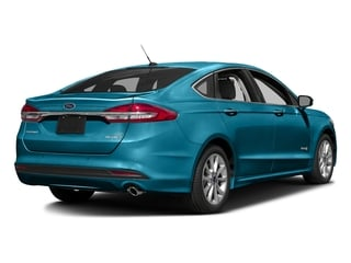 Lightning Blue 2017 Ford Fusion Pictures Fusion Sedan 4D SE I4 Hybrid photos rear view